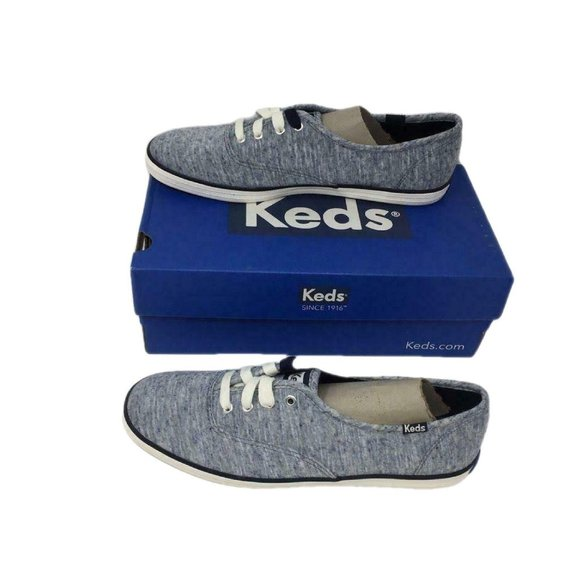Keds Womens Jersey Sneakers Shoes Blue Size 8